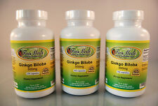 Ginkgo Biloba 500mg, memory, blood circulation ~300 (3x100) capsules Made in USA