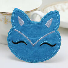 NEW Fabric sticker patch Iron/Sew on Embroidered applique Fox Patterns blue