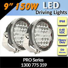 "LED Driving Lights 9"" 150w  Heavy Duty PRO Series CREE 12/24v ""Fantastic"""
