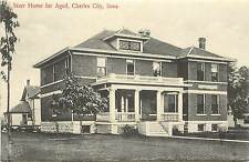 Vintage Postcard Starr Home for the Aged Charles City Floyd County IA Iowa