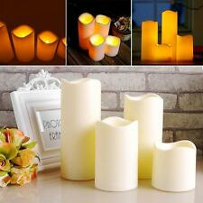 10 x 7.5cm Cylindrical Flickering LED Candle Light Flameless Christmas Lamp