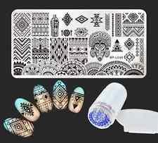 Born Pretty Ethnic Nail Art Stamping Plate Image Template Stamper Scraper Kit