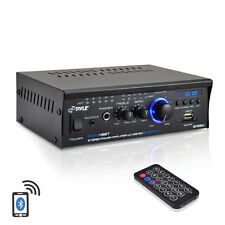 NEW Pyle PCAU48BT 120W x 2 Bluetooth Stereo Power Amplifier USB/SD AUX & Remote