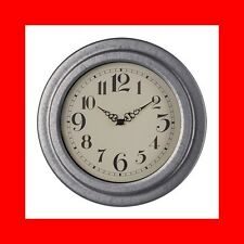 "NEW IKEA RYTTIS Wall clock, galvanized,  9"" - FAST FREE SHIPPING !!!"