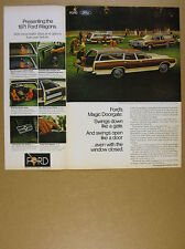 1970 Ford LTD Country Squire & Torino Squire Wagons photo vintage print Ad