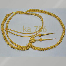 NEW GOLD WIRE ARMY AIGUILLETTE ARMY AIGUILLETTE GOLD WIRE CORD