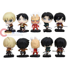 Attack on Titan Chibi Figure 5pc Shingeki no Kyojin Anime Figurine Eren Jaeger