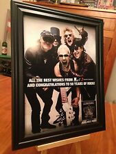 """1 BIG 10X13 FRAMED SCORPIONS """"50th ANNIVERSARY"""" LP CD PROMO AD - choose from 4!"""