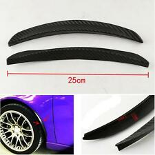 2pcs 25CM CAR CARBON FIBER STYLE FENDER FLARE WHEEL LIP GUARD PROTECTOR