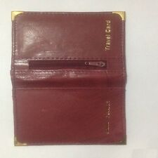 Maroon Soft Leather Bus Pass Oyster Credit Card Travel Wallet Coin Zip Purse