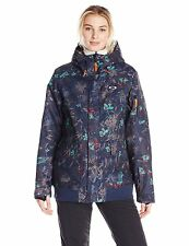Oakley REVENGE BIOZONE INSULATED JACKET Women's SZ XS Winter Ski Snowboard NAVY