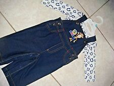 Woody Toy Story overalls blue boy girl set outfit 3 6 month baby clothes Disney