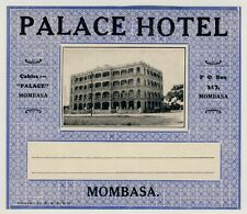 Palace Hotel MOMBASA Kenya East Africa * Old Luggage Label Kofferaufkleber