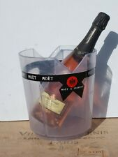 MOET & CHANDON Champagne ICE BUCKET Wine Cooler FRENCH Clear Perspex