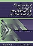 Educational and Psychological Measurement and Evaluation (8th Edition)