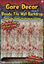 Halloween Bloody Tiles Insane Asylum 20ft Backdrop Wall Scene Setter Decoration
