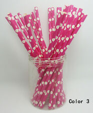 25 Paper Straws Big Polka Dot Drinking Straw For Party Wedding Birthday Color 3