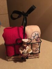 NEW FAT CHEF BISTRO Kitchen Basket HOLDER Mico Fiber Towels  Cute FREE SHIPPING