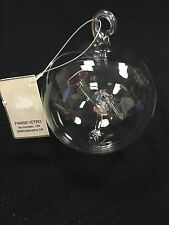 Vintage BREVETTATO Blown and entirely hand made PYREX GLASS CHRISTMAS ORNAMENT