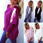 Plus Size Women Loose Casual Long Sleeve Sexy Shirt Tops Blouse Ladies Tee Top