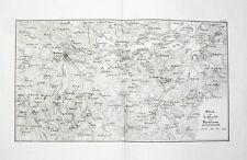 1857 Bautzen Sachsen Napoleon Befreiungskriege Kupferstich-Landkarte