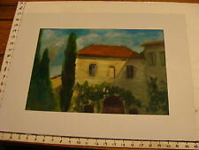 JAN STEELE, painting: Italian House i think in oil