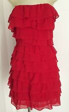 In as new condition GUESS brand formal cocktail RED rara Dress size 8 FREE POST