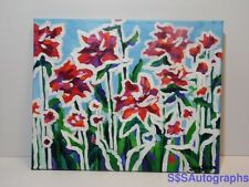 MODERN CONTEMPORARY Flower Garden Abstract Rose Painting by Sara Larson Art