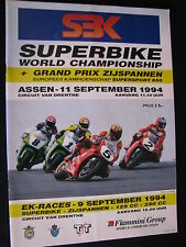 Program SBK Superbike World Championship TT Circuit Assen 11 sept 1994 (TTC)