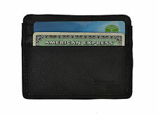 Genuine Leather Luxury Men's Small Id Credit Card Holder Wallet Slim Pocket Case