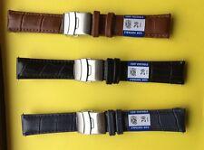 Bracelet De Montre ,3 Couleurs Différentes  En Cuir Avec Boucle Déployante