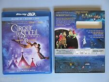 Cirque du Soleil: Worlds Away Limited 3D Edition BLU-RAY DVD Digital Copy MINT