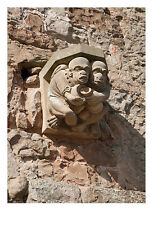 Carved Stone Corbel Sand Coloured Wall Photographic Epson Print only (Unframed)