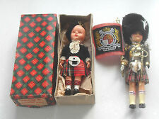 VINTAGE RETRO 1950/60s TWO SCOTLAND CHARACTER DOLLS WITH SLEEPNG EYES