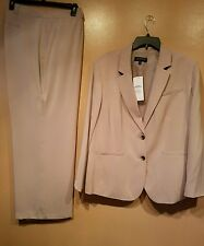 Jones New York Collection Woman Pant Suit Size 24W Tan NWT