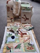 #T BABY CRIB BEDDING NURSERY SET Boy ZANZIBAR Jungle Zoo Animals brown green