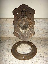 Antique Odd Fellows Peek Hole Lodge Door Peep Hole Cast Iron w/ Copper FLT IOOF
