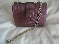 Vintage Style Etienne Aigner Box Purse Crossbody Shoulder Burgandy