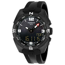 Tissot T-Touch Expert Solar Black Dial Black Silicone Mens Watch T0914204705701