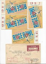 1971 Rose Bowl football ticket lot of 4 Stanford Indians Ohio State Buckeyes