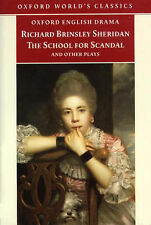 The School for Scandal and Other Plays (Oxford World's Classics), Richard Brinsl