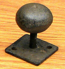 Antique Replica Round Knob on Flat Base  Drawer  (Set Of 6)  Cast Iron Brown