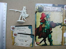 HERNAN CORTES MINIATURE+CARDS /RUM & BONES SECOND TIDE/FROM IRON INQUISITION BOX
