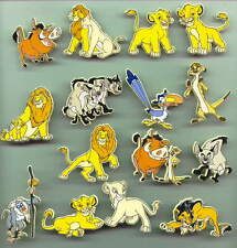 Disney Lion King Rare set  of 15 UK plastic pin/pins