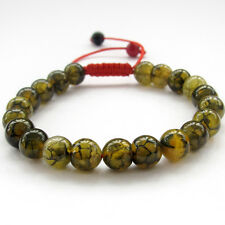 Dragon Skin Agate Gem Tibet Buddhist Prayer Beads Mala Bracelet