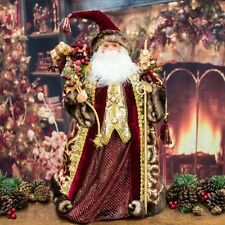 Luxury Burgundy Santa Claus Figure / Tree Topper (2ft)