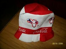 CHAPEAU FEUTRE neuf PUBLICITE SODA COCA COLA HAT NEW polyester ADVERTISING  xx