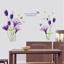 Chic Love Flower Vinyl Decal Wall Stickers Mural Bedroom Home Decor Removable UK