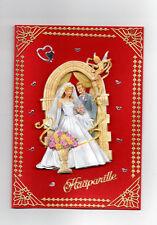 3D Glückwunschkarte zur Hochzeit,Grußkarte rot, Hochzeitspaar