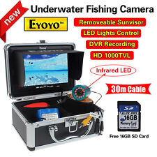 "EYOYO 30m 7""LCD Underwater Video DVR Camera IR 16GB Fish Finder Night Vision Sea"
